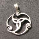 Amulett Anhänger Trinity, Silber 925