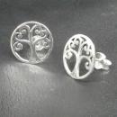 Ohrstecker Lebensbaum Weltenesche, Silber 925, 1 Paar