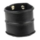 Lederarmband breit, schwarz