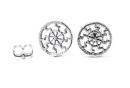 Ohrstecker Sonnenrad, Silber 925, 1 Paar