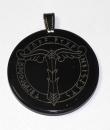 Amulett Irminsul im Runenkranz, Horn