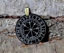 Runenamulett Anhänger Vegvisir Wikingerkompass, Horn