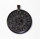 Runenamulett Glücksrune 2, Rinderhorn