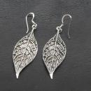 Ohrhänger Große Blätter, Silber 925