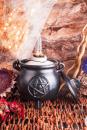 Großer Hexenkessel mit Pentagramm und Deckel,...
