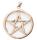 Amulett Anhänger Pentagramm, groß, Bronze