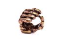 Bartperle Haarperle Skelett Hand, Bronze
