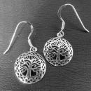 Ohrhänger Keltischer Lebensbaum, Silber 925, 1 Paar