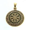 Anhänger Aegishjalmur, Eagershelm, Tarnkappe, Bronze