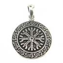 Anhänger Aegishjalmur, Eagershelm,Tarnkappe, Silber 925