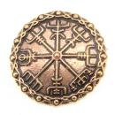Brosche Vegvisir, Bronze