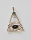 Anhänger Allsehendes Auge, Silber 925, Einzelstück