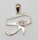 Anhänger Horusauge mit Bergkristall, Silber 925,...