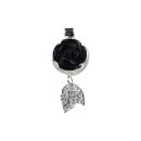Anhänger Schwarze Rose aus Onyx in Silbermontur