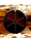 Amulett Anhänger Rune Hagal