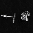 Ohrstecker Lebensbaum Weltenbaum, Silber 925, 1 Paar