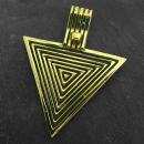 Anhänger Dreieck Pyramiden, Bronze