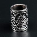 Bartperle Haarperle Valknut, Silber 925