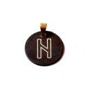 Rune Hagalaz Bronze graviert
