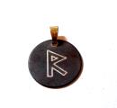 Rune Raidho Bronze graviert