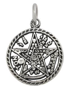 Amulett Anhänger Tetragrammaton, Levi, Silber 925