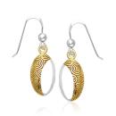 Ohrhänger Spirals bicolor, Silber 925 teilvergoldet,...