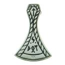 Wikinger Axtblatt mit Runen, Silber 925