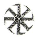 Brosche Großes Sonnenrad Kolovrat, Silber 925