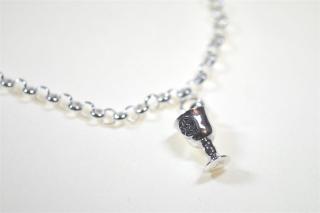 Charm Anhänger Kelch mit Pentagramm / Chalice, Silber 925