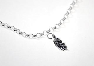 Charm Anhänger Eichen Blatt / Oak Leaf, Silber 925