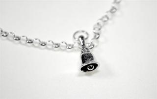 Charm Anhänger Glöckchen mit Pentagramm / Witches Bell, Silber 925