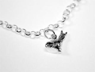 Charm Anhänger Katze / Witches Cat, Silber 925