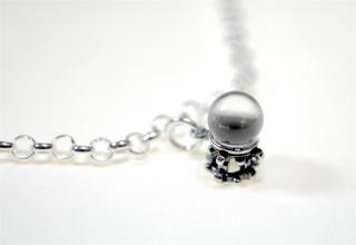 Charm Anhänger Kristallkugel / Crystal Ball, Silber 925