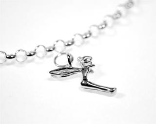 Charm Anhänger Fee / Fairy, Silber 925