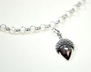 Charm Anhänger Eichel / Acorn, Silber 925