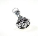 Anhänger Siegelstempel Pentagramm, Silber 925