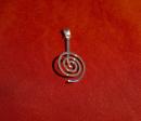 Donuthalter Spirale 30mm, Silber 925