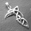Anhänger Keltischer Rabe, Silber 925