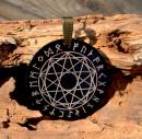 Amulett Anhänger Pentagrammkristall, Horn