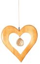 Fensterdeko Holz und Kristall Herz