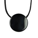 Amulett Anhänger Hexenspiegel Obsidian poliert 2