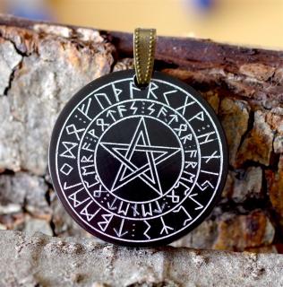 Amulett Anhänger Satorformel im Runenkreis