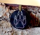 Amulett Anhänger Wolfspfote