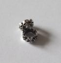 Bartperle Haarperle Skull Heads, Silber 925