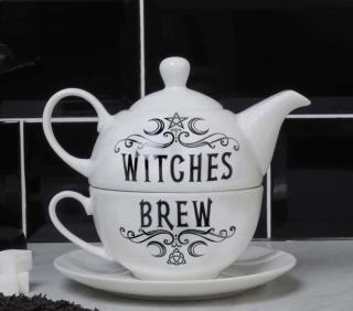 Tee Set WITCHES BREW, weiß