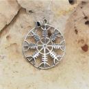 Amulett Anhänger Helm of Awe, Silber 925