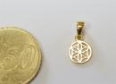 Anhänger Blume des Lebens mini, Silber 925 vergoldet