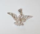 Anhänger Adler Eagle mit Granat, Silber 925,...