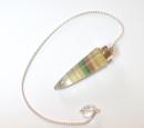 Pendel Fluorit in Silberfassung, Silber 925,...