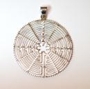 Anhänger Labyrinth von Chartres, Silber 925